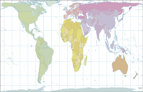 World map baobab books the peters projection world map represents the countries and continents in proportion to their actual size it is a departure from the eurocentric world gumiabroncs Image collections